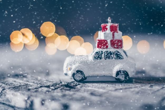 Conceito de férias de cartão de natal Foto Premium
