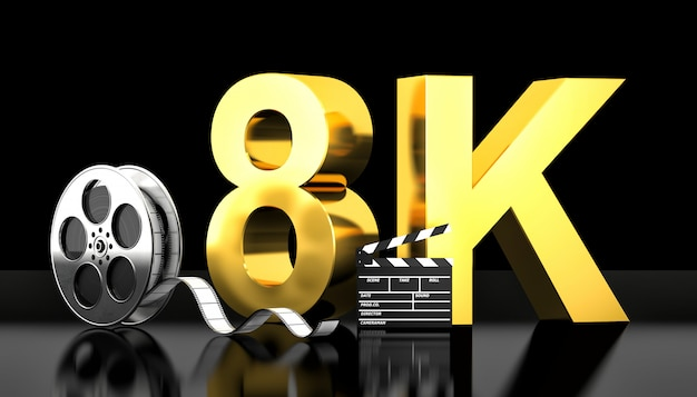 Conceito de filme 8k Foto Premium