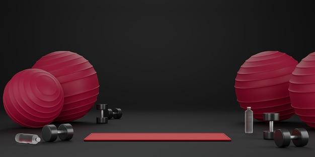 Conceito de fitness 3d Foto Premium