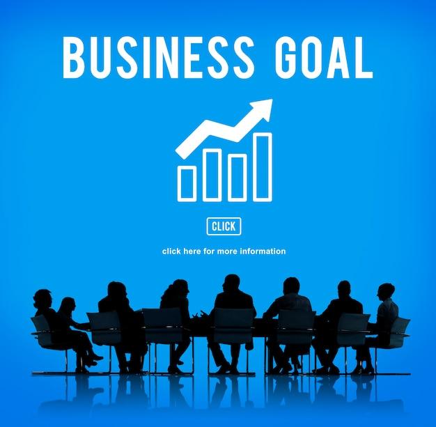 Conceito de gráfico de relatório de sucesso empresarial Foto gratuita
