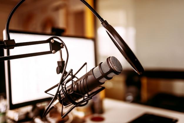 Conceito de gravação de música. Foto Premium