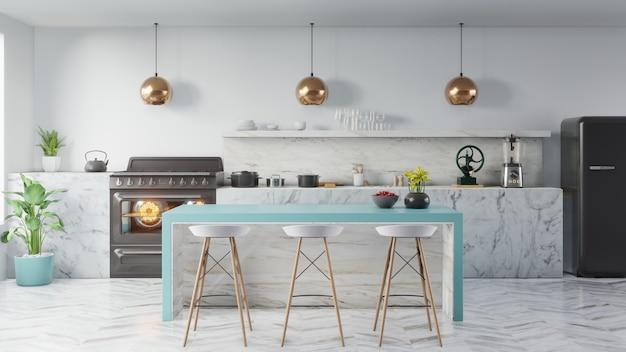 Conceito de interior de cozinha. Foto Premium