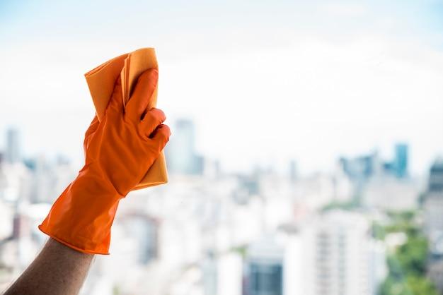 Conceito de limpeza de janela Foto gratuita