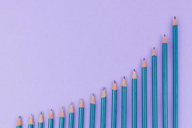 Conceito de negócio com lápis Foto gratuita