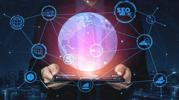 Conceito de negócio de seo search engine optimization Foto Premium