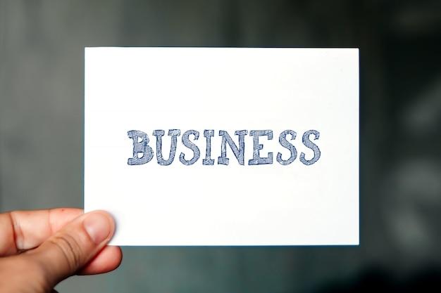 Conceito de negócio, palavra de negócios Foto Premium