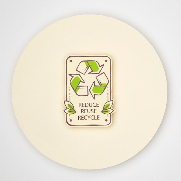 Conceito de reciclagem ecológica Foto gratuita