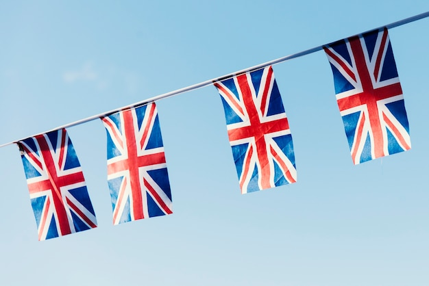 Conceito de sinal nacional de bandeira britânica Foto gratuita