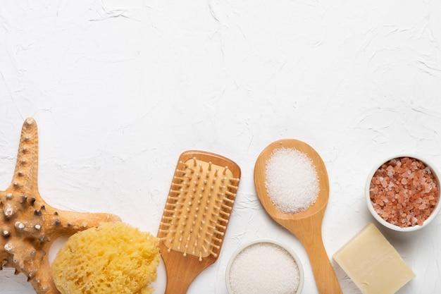 Conceito de spa de produtos cosméticos de higiene Foto gratuita