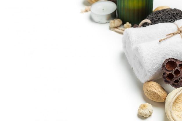 Conceito de spa isolado no branco Foto Premium