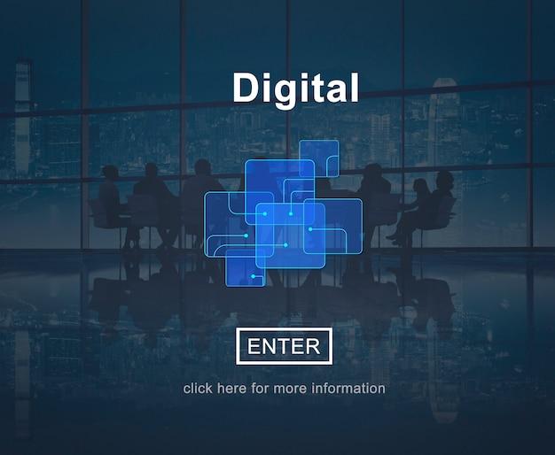 Conceito de tecnologia de site on-line digital Foto gratuita