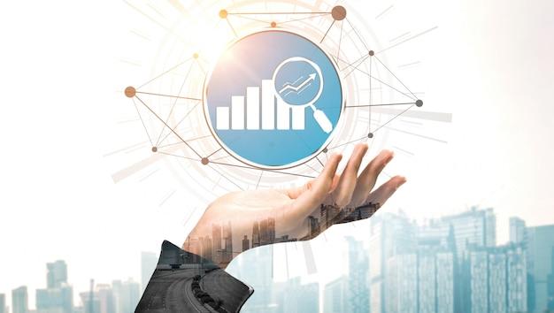 Conceito de tecnologia de transação de finanças e dinheiro Foto Premium