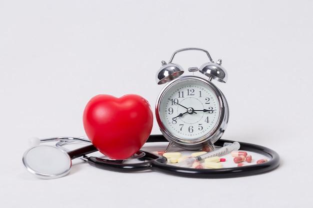 Conceito de timing, medicina e saúde Foto Premium