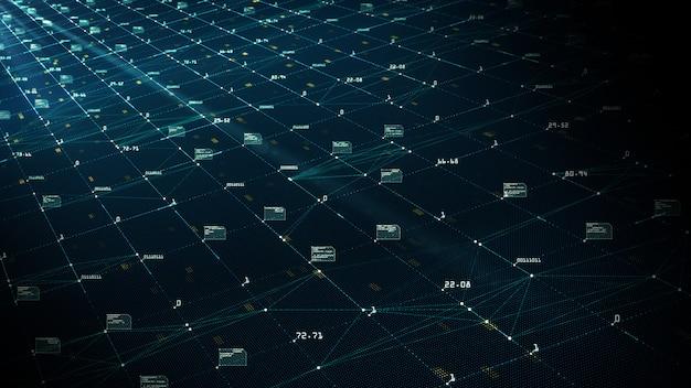 Conceito de visualização de grande volume de dados. algoritmos de aprendizado de máquina. Foto Premium