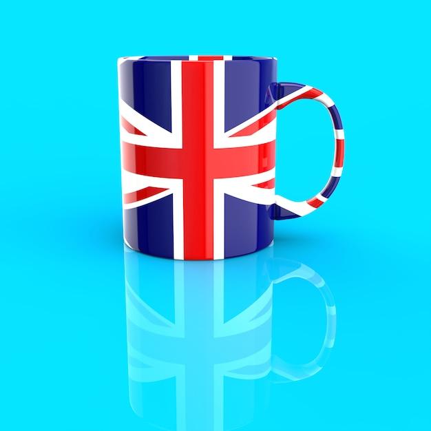 Conceito de xícara de café - ilustração 3d Foto Premium