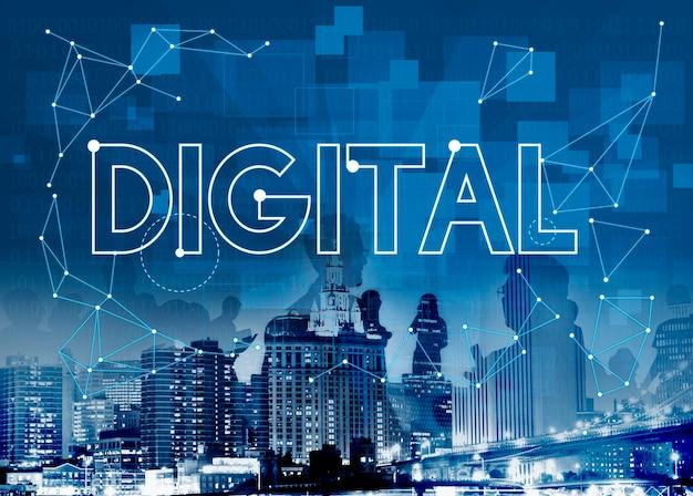 Conceito digital com horizonte Foto gratuita