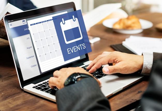 Conceito do calendário do organizador pessoal do lembrete da agenda da nomeação Foto gratuita