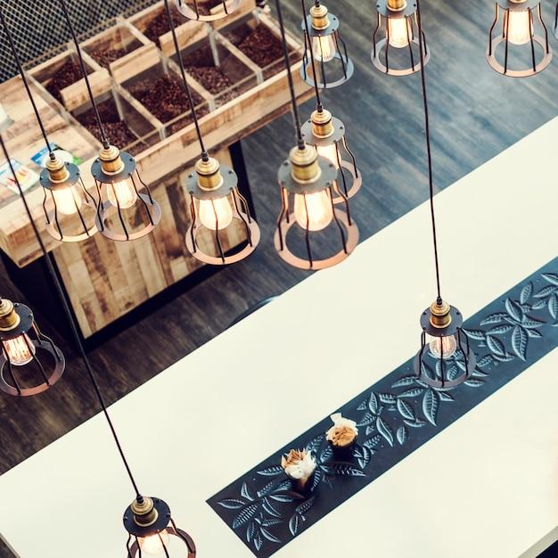 Conceito do estilo de comtemporary da sala de jantar do design de interiores Foto gratuita