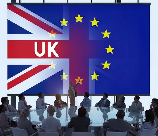 Conceito do referendo de brexit da ue grâ bretanha Foto Premium