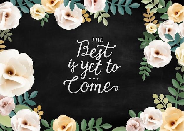 Conceito floral patternt de citações de inspiração Foto gratuita
