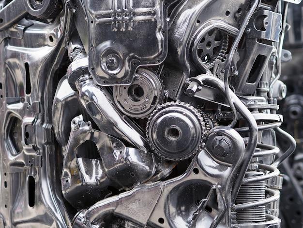 Conceito mecânico sobre partes de carros Foto Premium