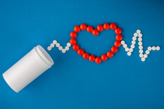 Conceito médico de comprimidos Foto Premium
