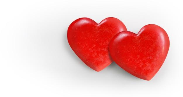 Conceitos de coração e doação vermelhos Foto Premium
