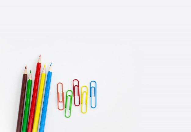 Conceitos de material escolar Foto Premium