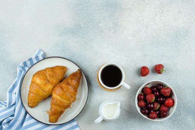 Concep delicioso comida de pequeno-almoço Foto Premium