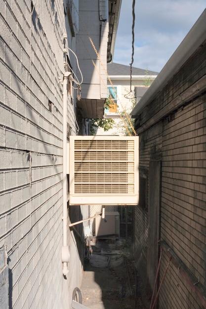Condicionador de ar em breezeway Foto Premium