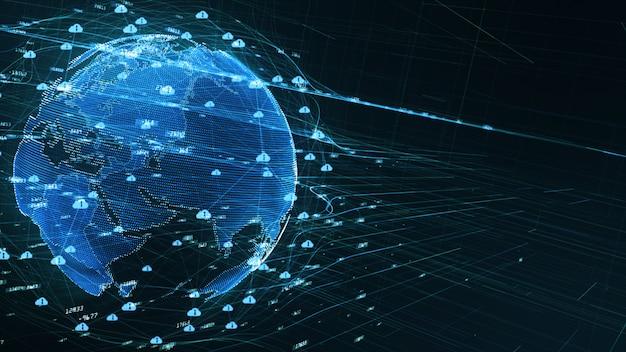 Conectividade de dados digitais de fundo 5g Foto Premium