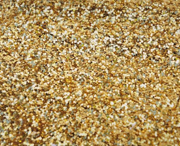 Confete dourado no quadro completo Foto Premium