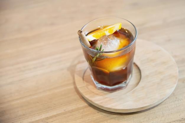 Conjunto de café de bebida gelada relaxar conceito de fundo Foto gratuita