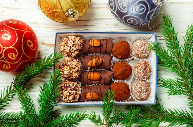 Conjunto de chocolates Foto Premium