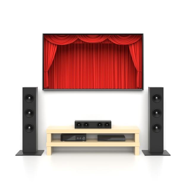 Conjunto de cinema em casa Foto Premium