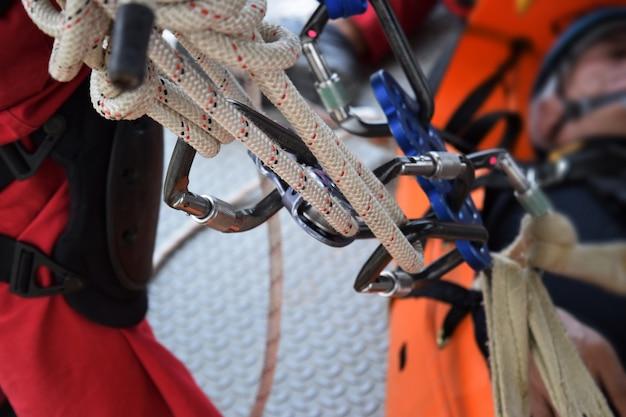 Conjunto de equipamento de escalada Foto Premium