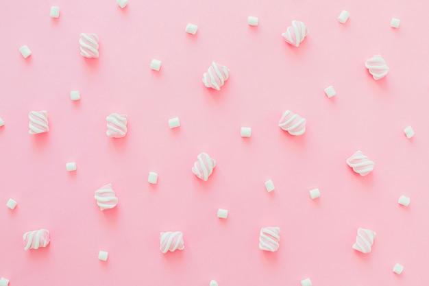 Conjunto de marshmallows Foto gratuita