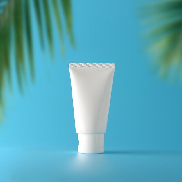 Conjunto de protetor solar cosmético Foto Premium