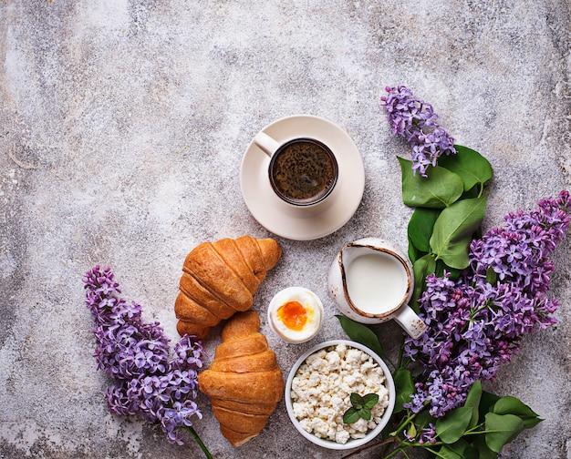 Conjunto de vários pequeno-almoço saudável Foto Premium