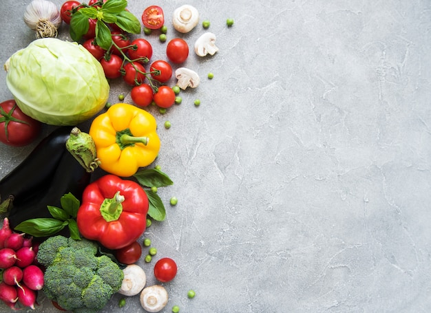 Conjunto de vegetais Foto Premium