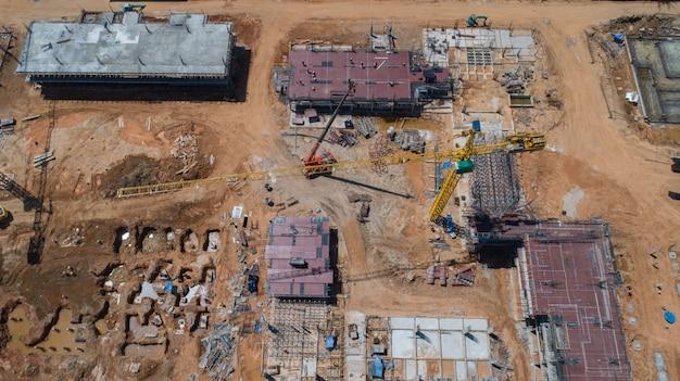 Construção vista aérea Foto Premium