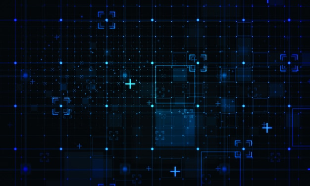 Contexto de grade digital. conceitos de tecnologia de negócios Foto Premium