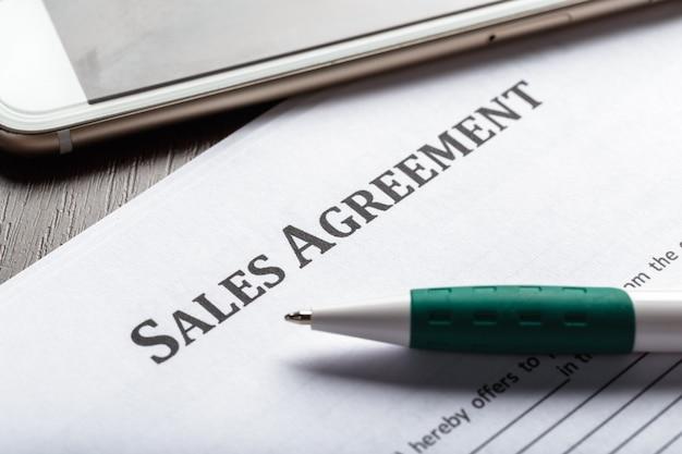 Contrato de locação ou arrendamento Foto Premium
