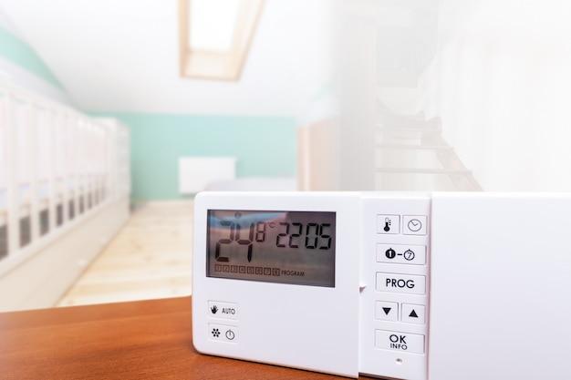 Controle climático do sistema, smart house. controle de casa Foto Premium