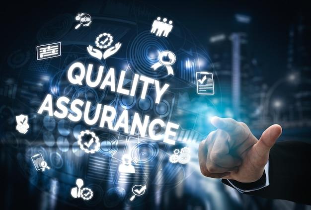 Controle de qualidade e controle de qualidade. Foto Premium