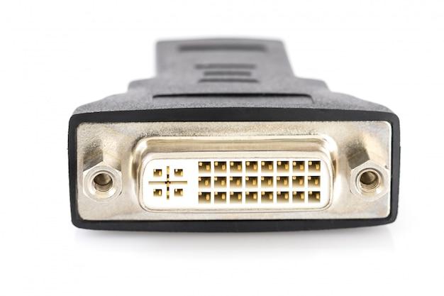 Conversor dvi para porta hdmi Foto Premium
