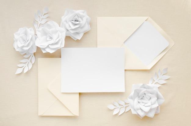 Convite de casamento bonito plana leigos Foto gratuita