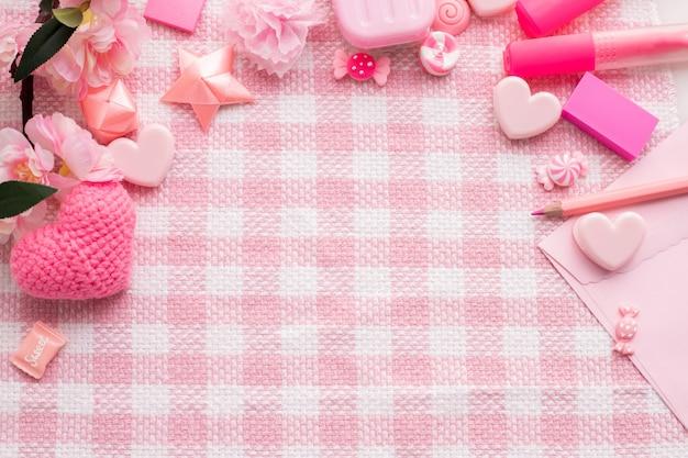 Copie o espaço para o texto no fundo da celebração do feriado do dia de valentim. Foto Premium