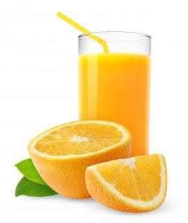 Copo de suco de laranja Foto gratuita