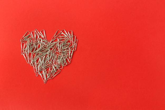Coração, ligado, um, experiência vermelha Foto Premium